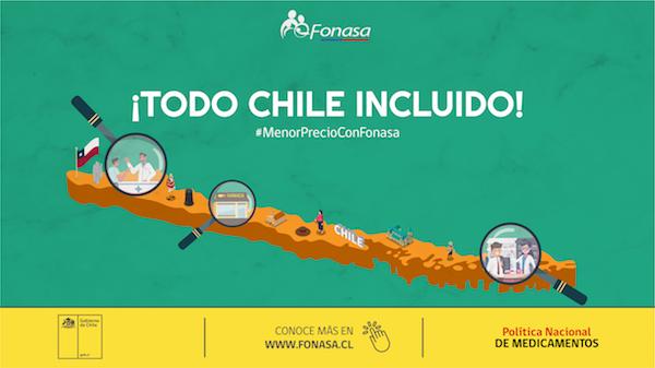 Fonasa informó que el beneficio de rebaja de medicamentos se extiende a todo Chile