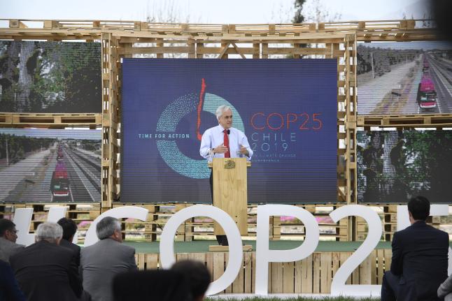 """Presidente Piñera presenta agenda ciudadana de COP Chile 25: """"Chile hace un llamado a todos para luchar juntos para evitar que el cambio climático y el calentamiento global terminen en una tragedia"""""""