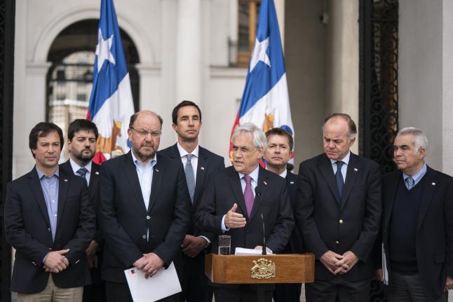 """Presidente Piñera anuncia medidas para afrontar sequía y escasez hídrica: """"Este esfuerzo tiene que involucrar y comprometer a toda la sociedad chilena"""""""