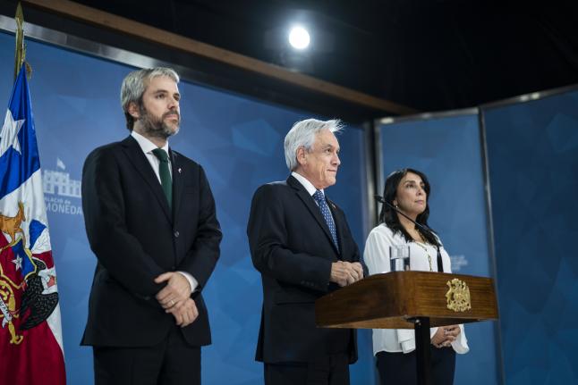 Presidente Piñera convoca a todo el país a un Acuerdo por la Paz y a condenar la violencia de forma categórica