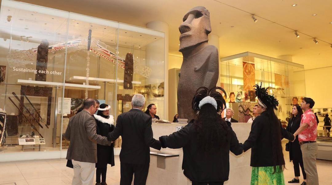 Ministro de Bienes Nacionales y representantes de comunidad Rapa Nui se reúnen por primera vez con Museo Británico