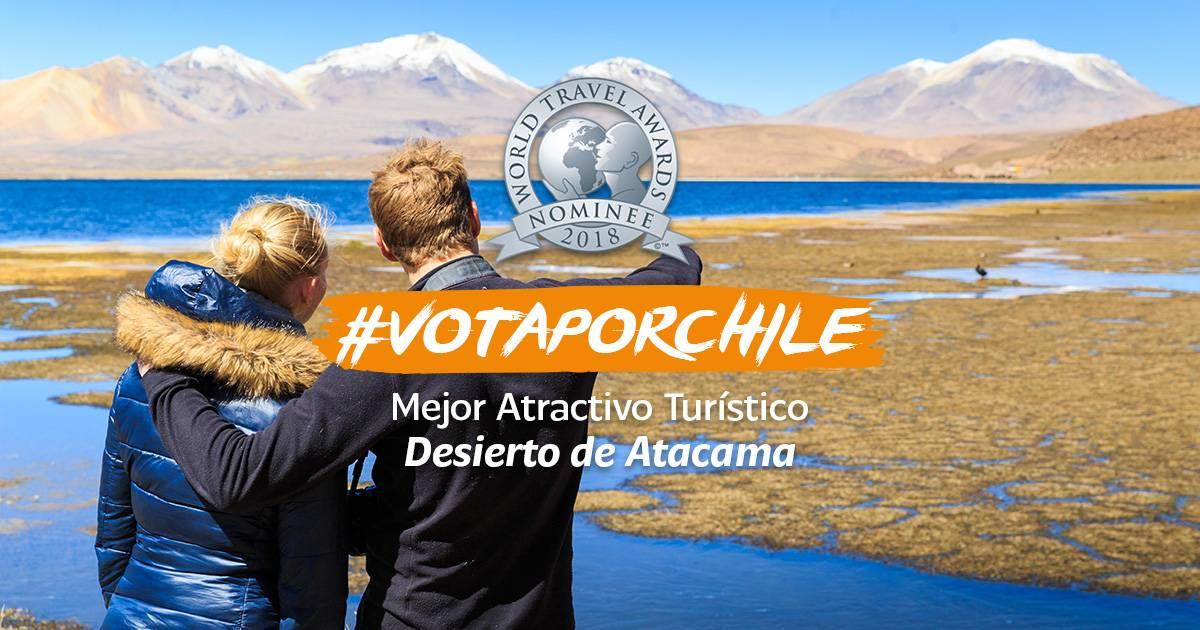 #VotaporChile: Nuestro país busca mantener el liderazgo como mejor destino de turismo aventura en los World Travel Awards