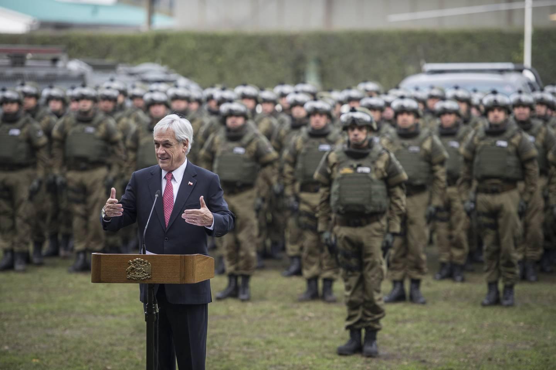 Presidente presentó Grupo Fuerza Especial de Tarea de Carabineros para la Araucanía