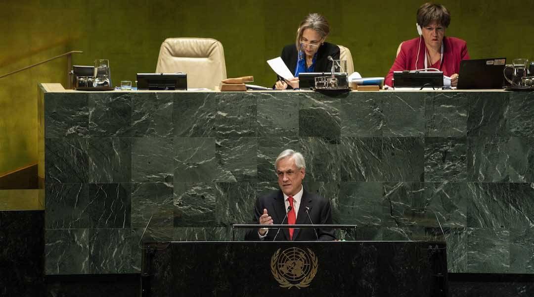 """Presidente Piñera en la ONU: """"Poner urgencia en la lucha contra el cambio climático es el gran desafío de nuestra generación"""""""