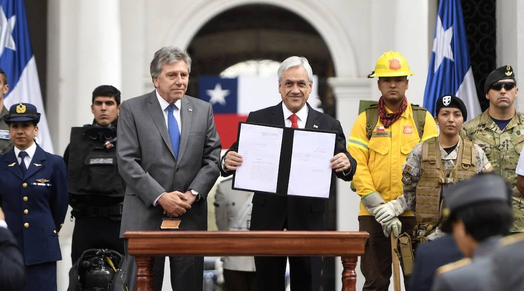 Presidente Piñera presenta proyecto de ley que moderniza la carrera militar